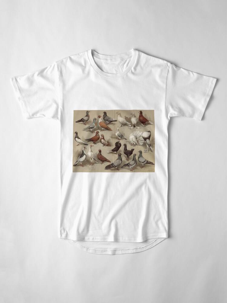 Alternative Ansicht von Taubenzucht-Diagramm Longshirt