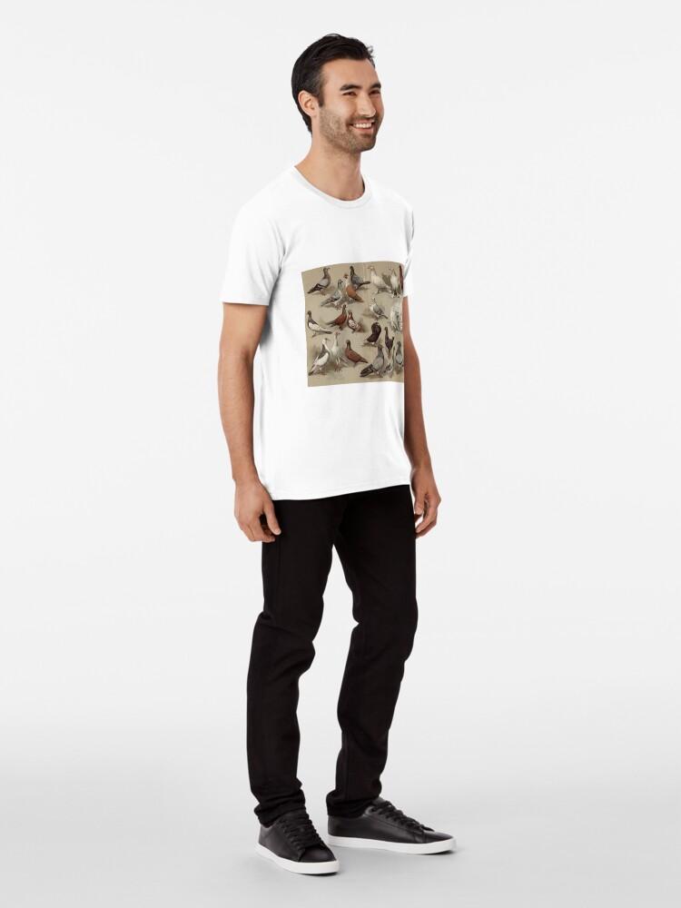Alternative Ansicht von Taubenzucht-Diagramm Premium T-Shirt