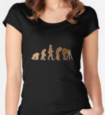 Earth Photographer Evolution Women's Fitted Scoop T-Shirt