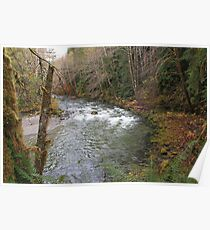 Classic River Scenes: Late Fall  Poster