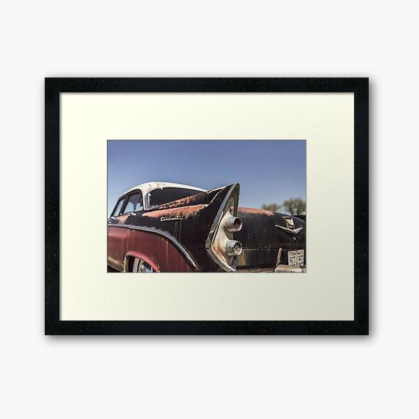 Rusty American car Framed Art Print