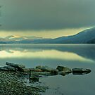 Coniston Water in January by Jamie  Green