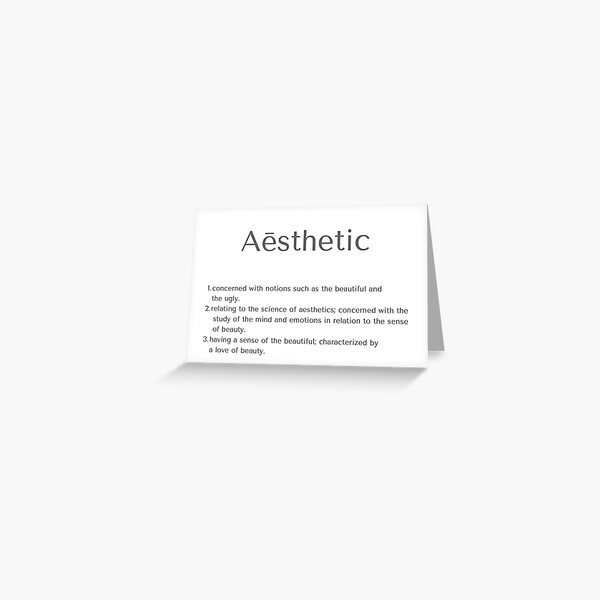 Aesthetic Definition Greeting Cards Redbubble