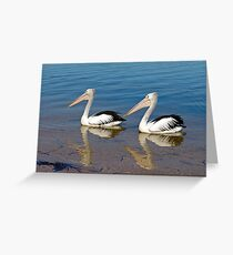 Synchronized Swiming Greeting Card