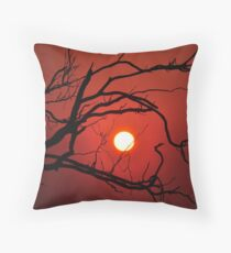 13th of May 2011  Fiery Sunset Throw Pillow