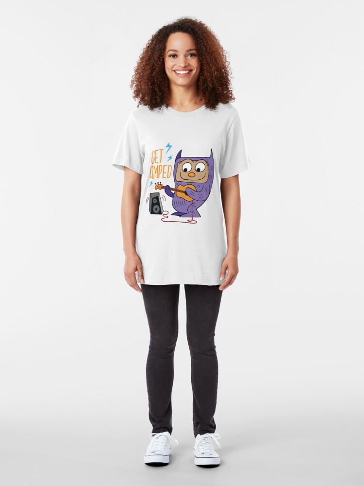 Alternate view of Get Amped! Night is Alive Presents the GigMonsters! Slim Fit T-Shirt