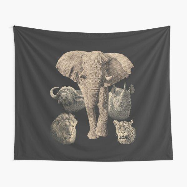 Big Five Africa Safari  Tapestry