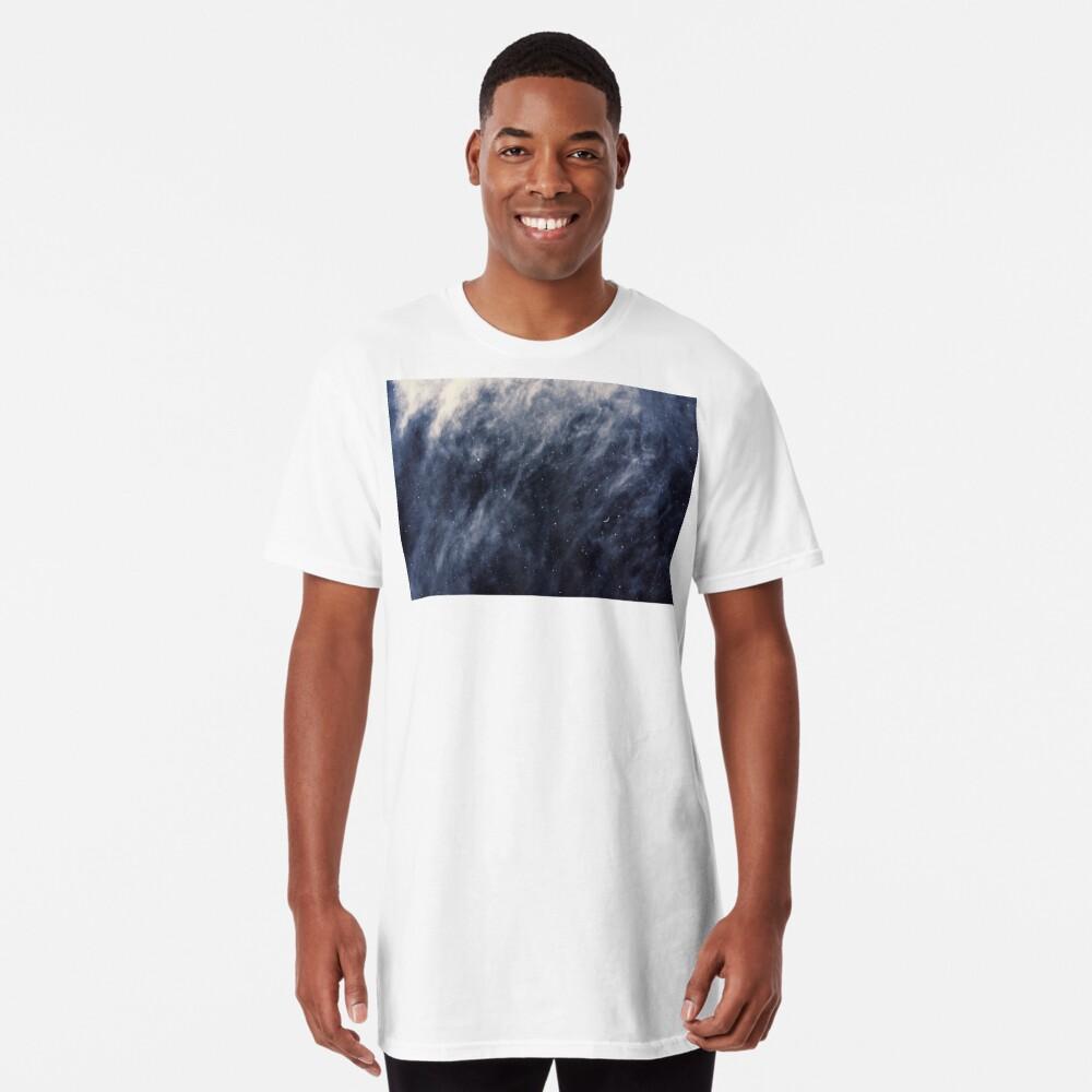 Blue Clouds, Blue Moon Long T-Shirt