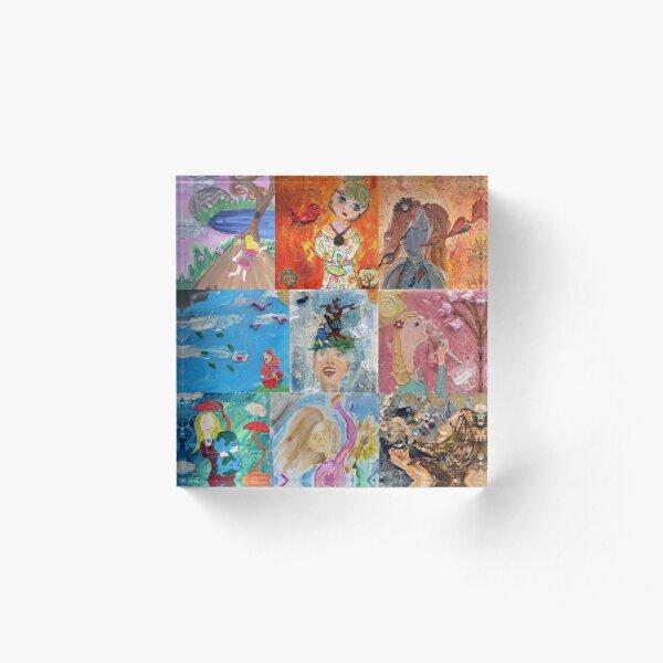 Kaleidoscopic Joy  Acrylic Block