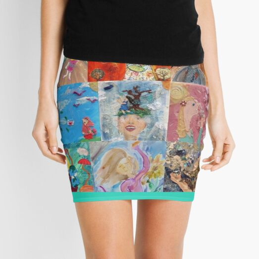 Kaleidoscopic Joy  Mini Skirt