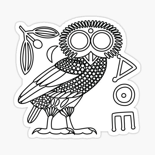 Owl of Athena [White + All] Sticker