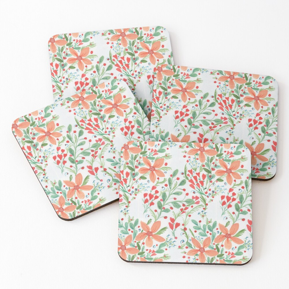 Floral Delights Coasters (Set of 4)