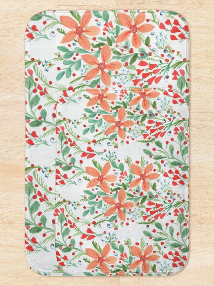 Alternate view of Floral Delights Bath Mat