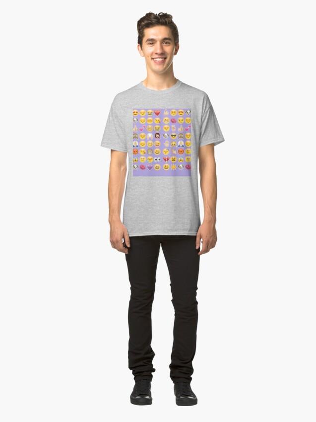 Alternative Ansicht von Pastell lila Emoji Classic T-Shirt