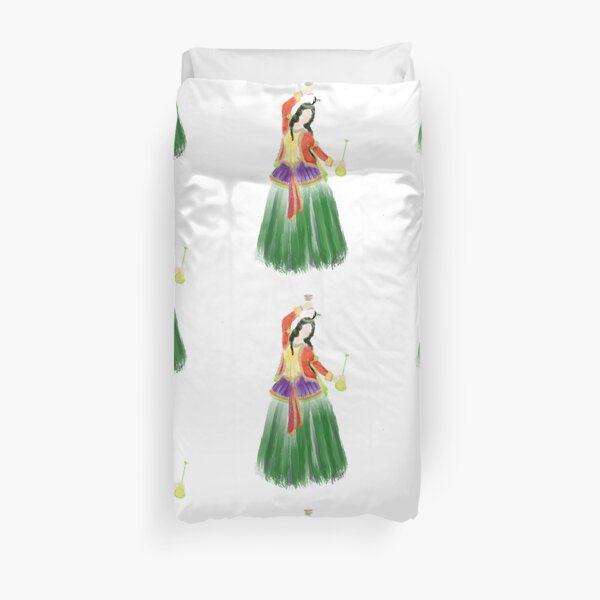 A Persian Girl and Wine Duvet Cover
