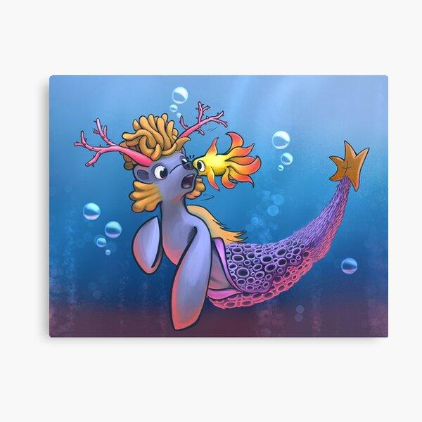 Cute Coral Critter Prints Canvas Print