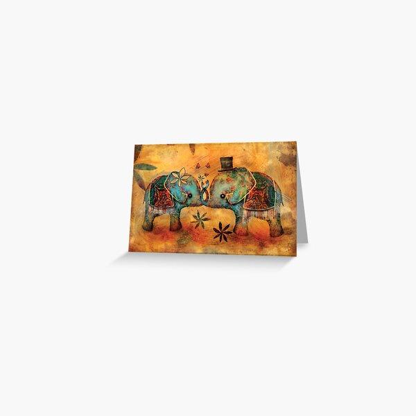 Vintage Elephants Greeting Card