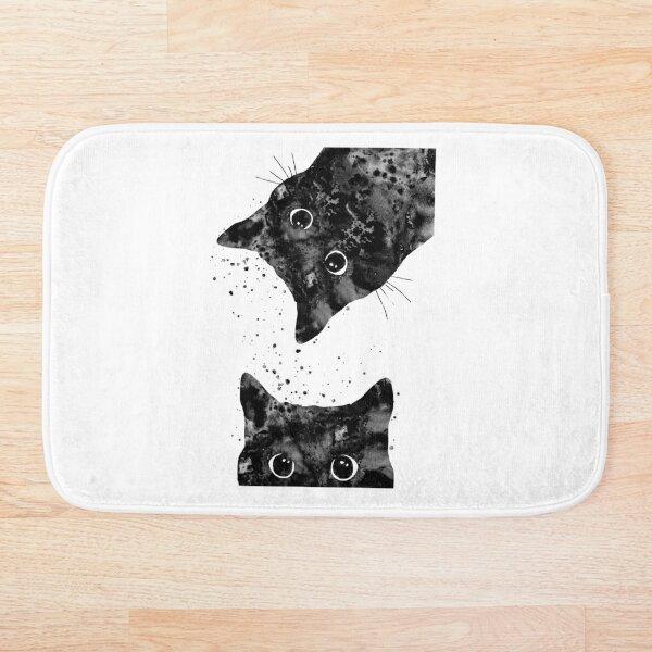 Peeking cat  Bath Mat