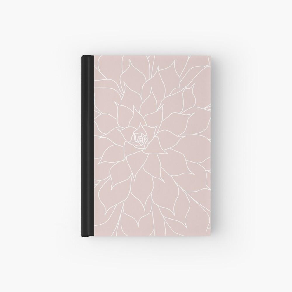 Blush Pink Succulent Hardcover Journal