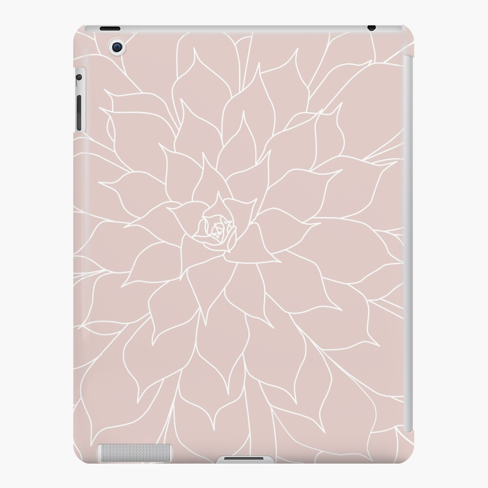 Blush Pink Succulent iPad Case & Skin
