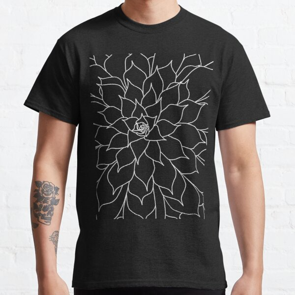 Black and White Succulent Classic T-Shirt