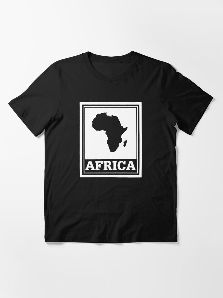 Alternate view of African pride with Afrca map Essential T-Shirt