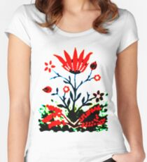 Forest Fire Flower Fitted Scoop T-Shirt