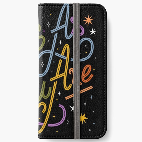 Love As You Are - Rainbow hand lettering LGBT   iPhone Wallet