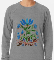 Burst of Blue Flowers Lightweight Sweatshirt