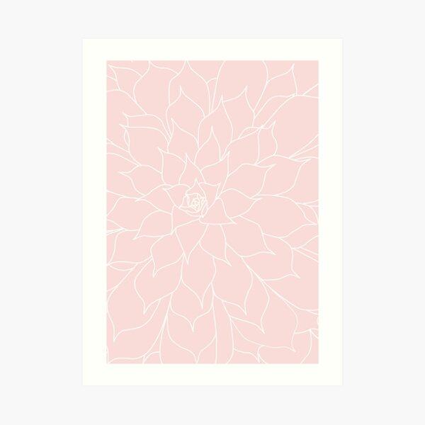 Rose Quartz Succulent Art Print
