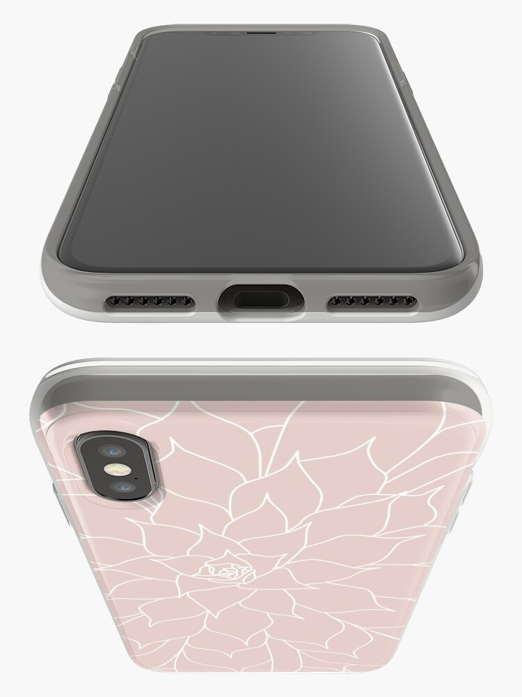 Alternate view of Blush Pink Succulent iPhone Case & Cover