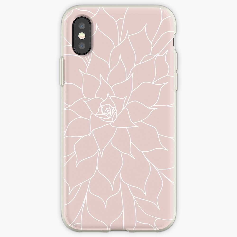 Blush Pink Succulent iPhone Case & Cover