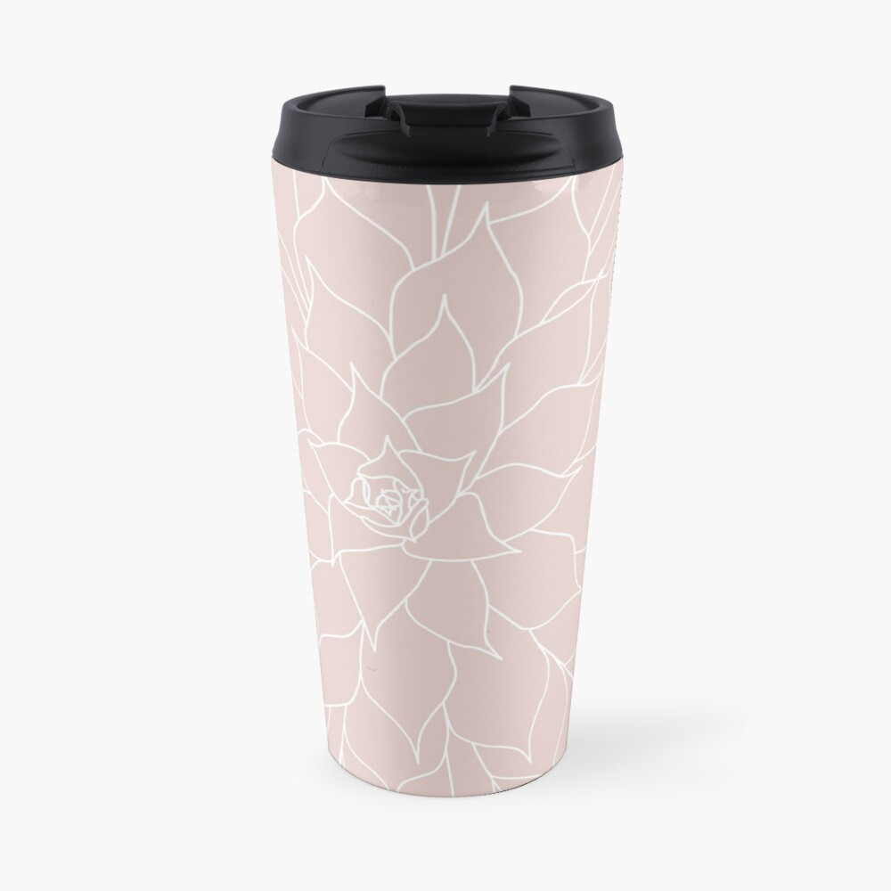 Blush Pink Succulent Travel Mug