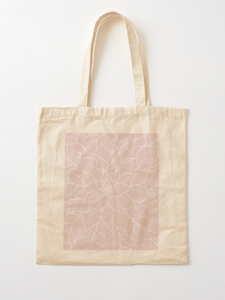 Alternate view of Blush Pink Succulent Tote Bag