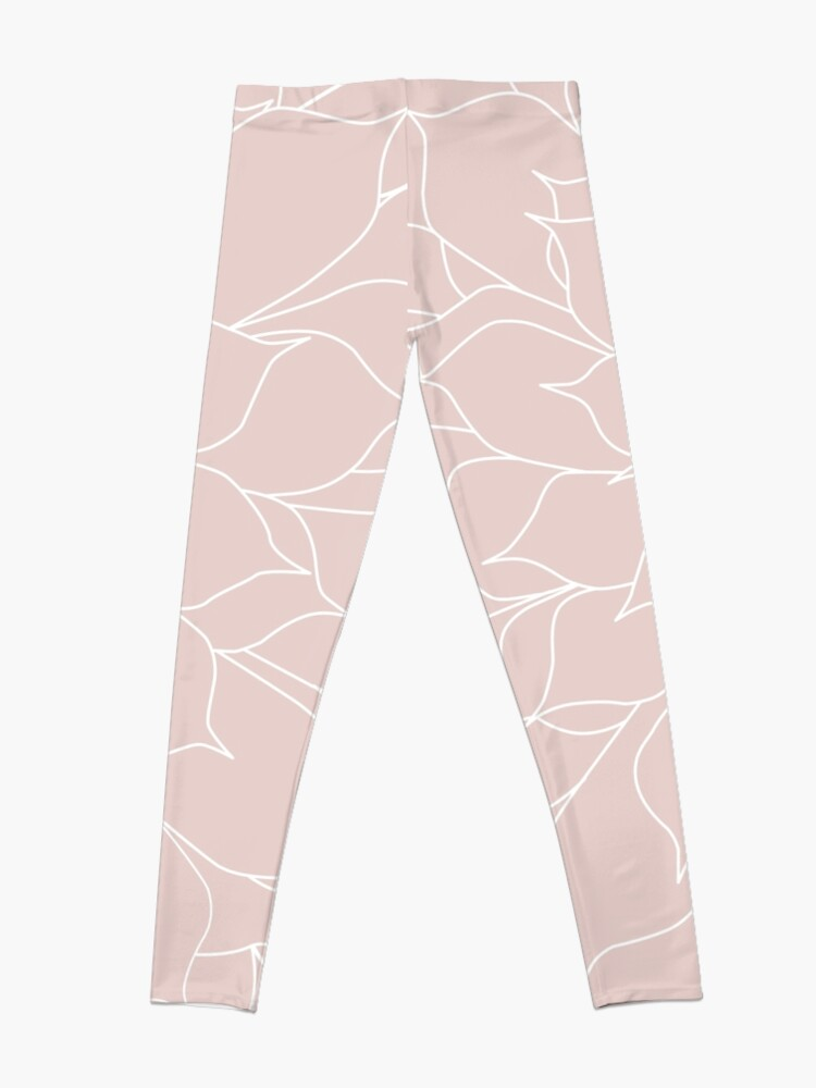 Alternate view of Blush Pink Succulent Leggings