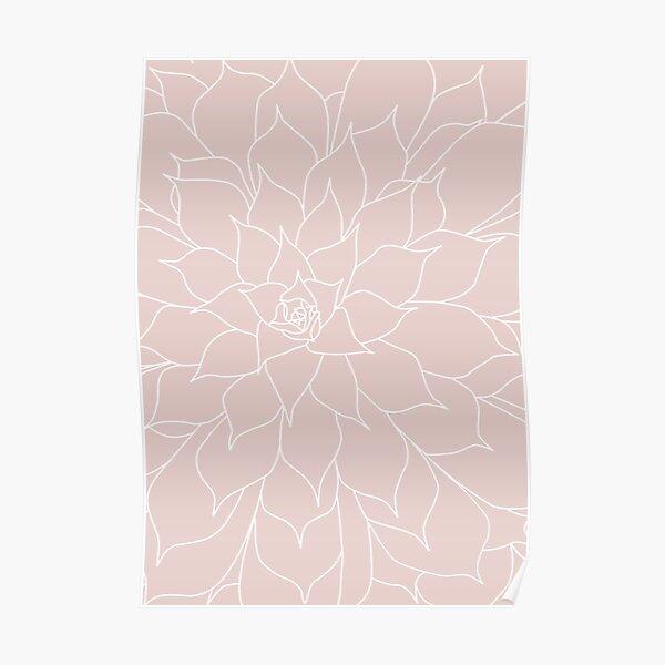 Blush Pink Succulent Poster