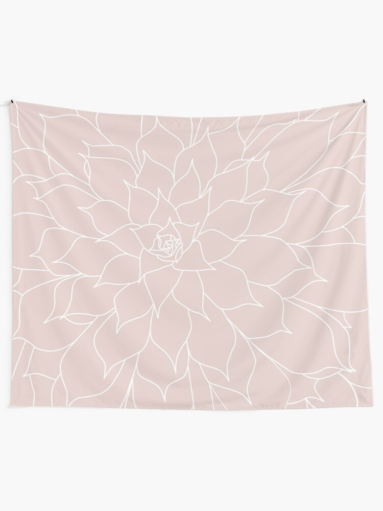 Alternate view of Blush Pink Succulent Tapestry