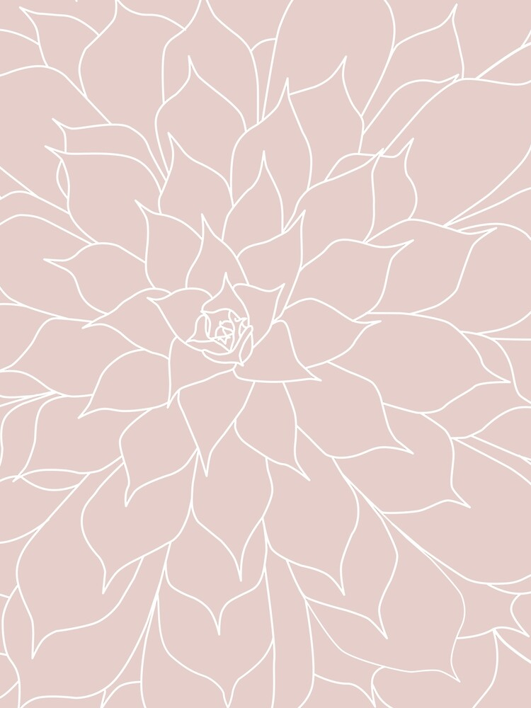 Blush Pink Succulent by UrbanEpiphany