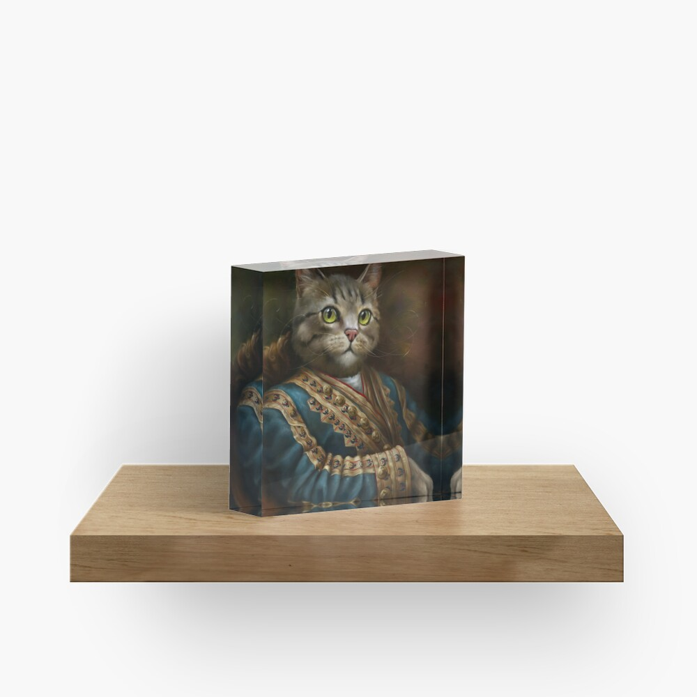 The Hermitage Court Outrunner Cat, alternative proportions Acrylic Block