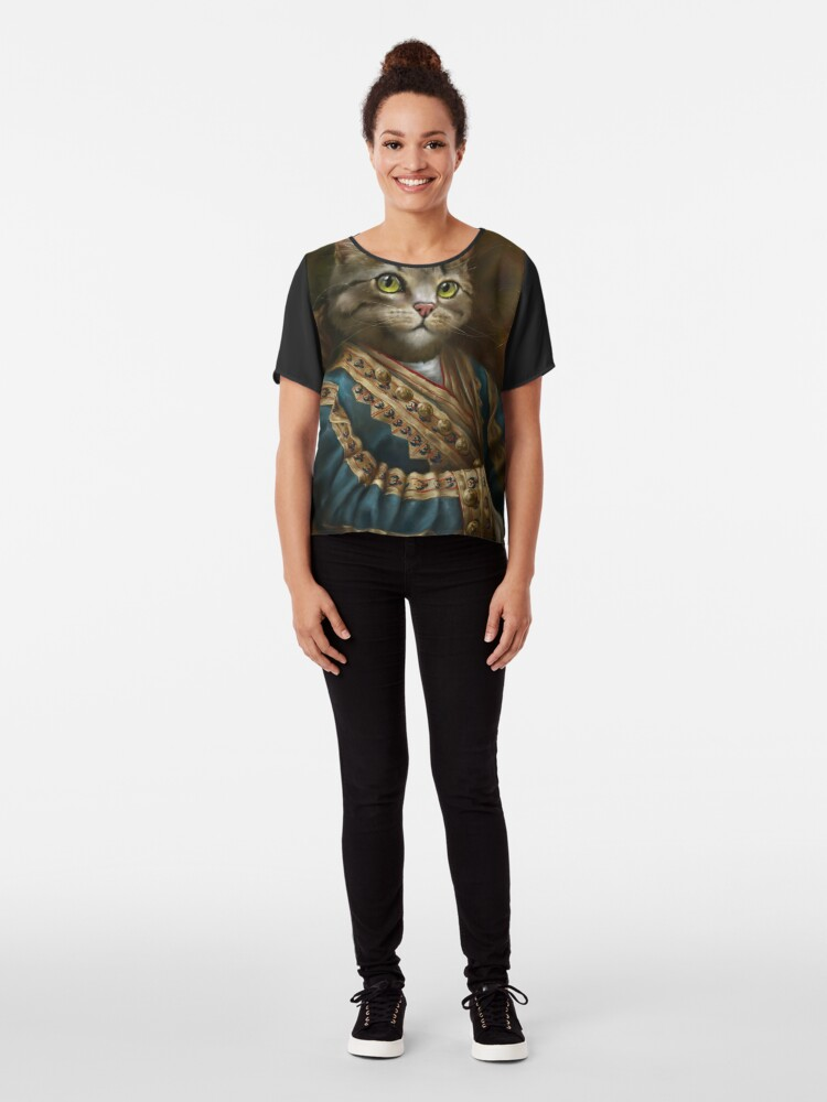 Alternate view of The Hermitage Court Outrunner Cat, alternative proportions Chiffon Top
