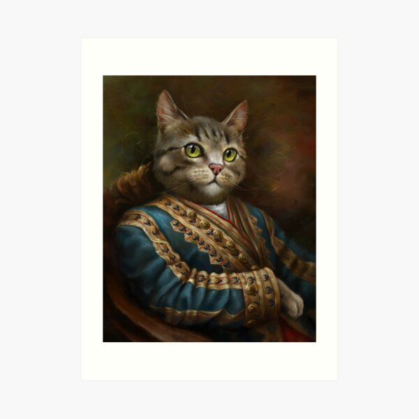 The Hermitage Court Outrunner Cat, alternative proportions Art Print