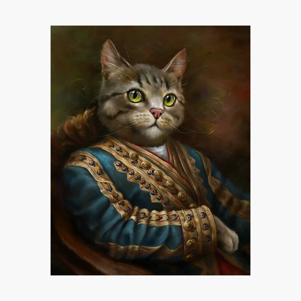 The Hermitage Court Outrunner Cat, alternative proportions Photographic Print