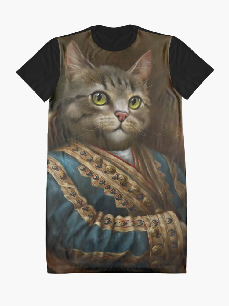 Alternate view of The Hermitage Court Outrunner Cat, alternative proportions Graphic T-Shirt Dress