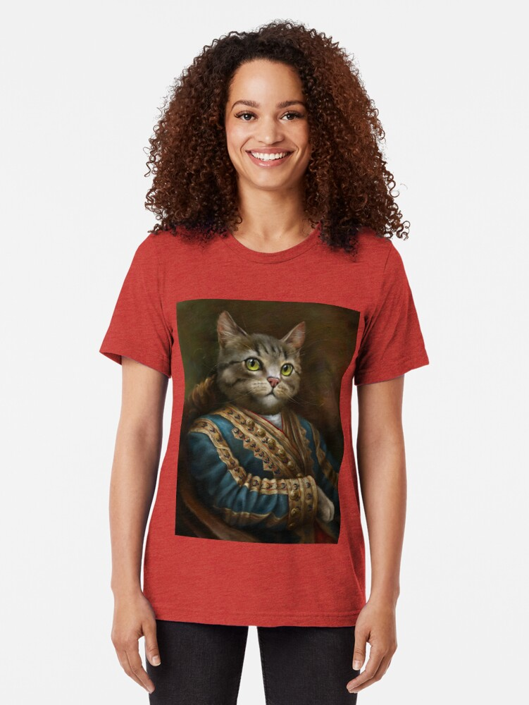 Alternate view of The Hermitage Court Outrunner Cat, alternative proportions Tri-blend T-Shirt