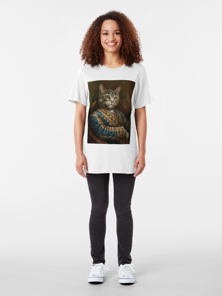 Alternate view of The Hermitage Court Outrunner Cat, alternative proportions Slim Fit T-Shirt