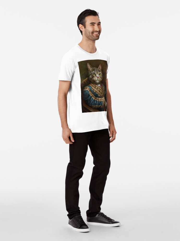 Alternate view of The Hermitage Court Outrunner Cat, alternative proportions Premium T-Shirt