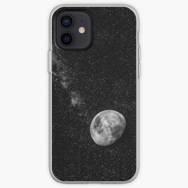Space Moon Glow iPhone Soft Case