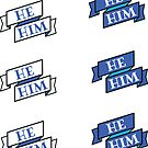 He/Him Pronoun Pack! Royal Blue Edition by zellerpress