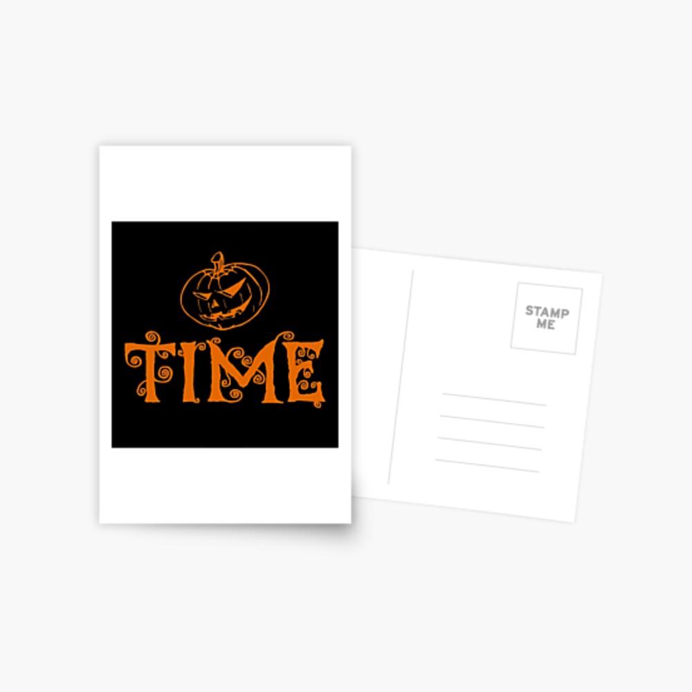 Halloween Gifts - Pumpkin Time - Fall Season  Postcard