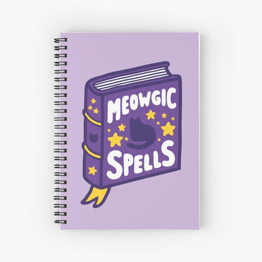 Meowgic Spells Book Spiral Notebook